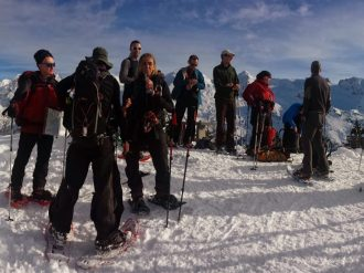snowshoeing alps