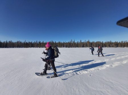 snowshoeing alps guides